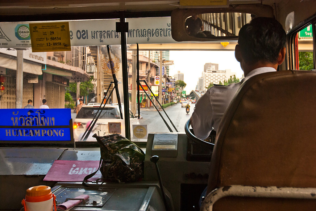 loved the local bus in Bangkok - the difficulty is to find the right one